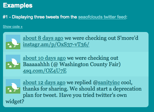 Add tweets from your timeline to your website